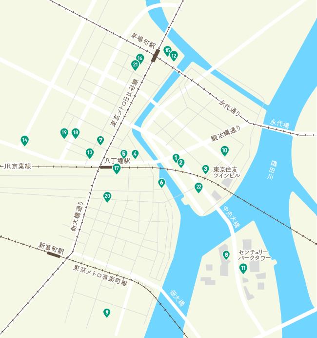 周辺医院の地図